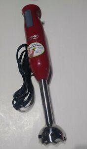 RED CUISINART SMART STICK HAND BLENDER CSB-76 FOOD MIXER STEEL BLENDER 200 WATT