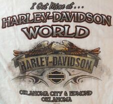 Harley Davidson T Shirt Small Womens I Got Mine at HD World Oklahoma City OK Wht