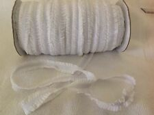 16mm White Frilled  Foe Elastic  3 Meter Length  HairBows Hair Bands Sewing