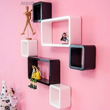 RECTANGLE FLOATING SHELF 6PCS HIGH GLOSS SET WALL SHOP DISPLAY GYPROCK ANY WALL