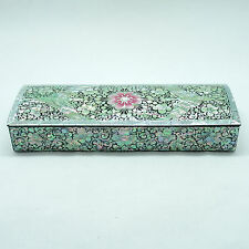 Luxurious arabesque pattern pencil case lacquerware inlaid with Mother of pearl