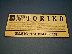 "AMT ""1968 Ford Fairlane Torino "" Original model kit Instruction sheet"