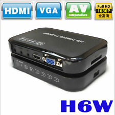 Full HD 1080p H6w Mini Multi-Media Player For HDTV HDMI AV SD + Remote Control