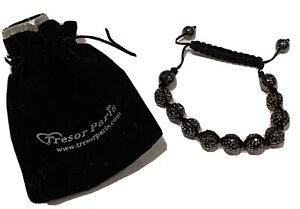Tresor Paris Black Crystal Bracelet
