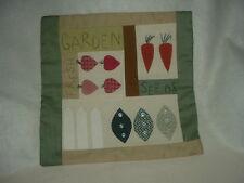 Garden Fresh Vegetables Machine and Hand-Stitched Appliqué Finished Quilt ~3801