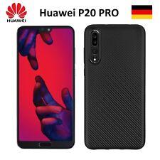 Handy Hülle Karbondesign für Huawei P20 PRO Case Schale TPU dünn schwarz 20 Pro