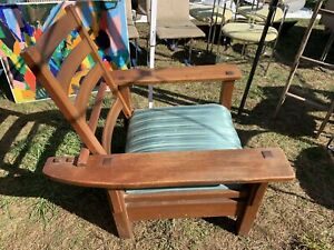 L and JG stickley morris chair Mission Oak Arts And Crafts Brothers Gus Roycroft