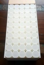 New Box of 100 Coinsafe Stackable Durable Hard Plastic Medallions Tubes!!