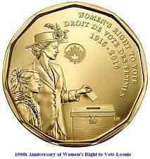2016 Canada Women (Right to Vote) Commemorative Loonie. Mint UNC.