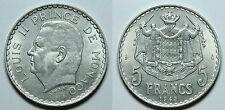 MONACO.  5 FRANCOS 1945.   EBC -