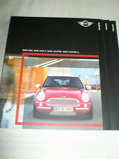 Mini range brochure 2003 One, One D, Cooper & Cooper S German text Prestige