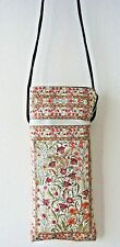 Clove Floral Patterned Sun Glasses Case Cover with Long Strap Moroccan Vintage