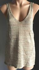 SPORTSGIRL Metallic Gold Knit Sleeveless Tank Top Size XS/8 - New With Tags