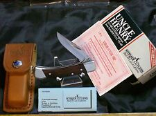 Schrade LB5 Lockback Knife & Sheath Circa-1980's Loss Cert & Packaging,Paperwork