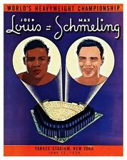 Joe Louis vs Max Schmeling *LARGE POSTER* 1938 Boxing Heavyweight Championship