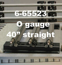 "LIONEL O GAUGE 40"" INCH LONG STRAIGHT TRACK LOT train tubular 0 bulk 6-65523 NEW"