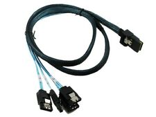 CableDeconn Mini SAS SFF-8087 36-PIN to 4 SATA 7-PIN HD reverse sata Cable 0.5M