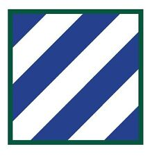 "3rd Infantry division sticker vinyl decal 5"" x 5"""