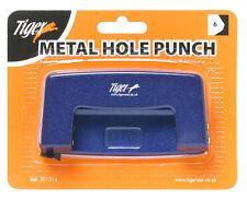 Nuevo Metal archivo tarjeta de papel Perforadora Ponchadora Herramienta Oficina Escuela Casa 6 Hojas
