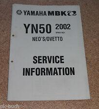 Service Information Yamaha YN 50 Stand 11/2001