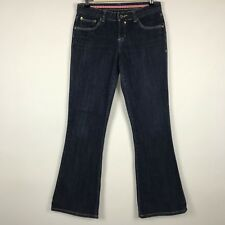 HURLEY Womens Boot Cut Jeans Size 7 Dark Wash Stretch