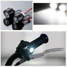 2X Motorrad Lenker Weiß LED Fernlicht Scheinwerfer Head Licht Fernlicht Lampe ER