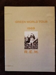 R.E.M. GREEN WORLD TOUR PROGRAM BOOK Michael Stipe Pete Buck alternative rock