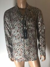 NEW Authentic Dolce and Gabbana Key Print Silk Pajama Shirt Size M