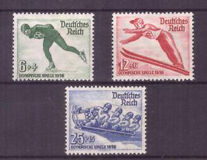 Deutsches Reich Nr. 600/2 Winterolympia 1936 * MH dekorative Serie! Mi: 13€!