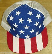 USA United States of America Flag Snapback hat (Mesh Sides & Back) New