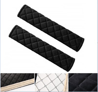 2Pcs Car Safety Seat Belt Shoulder Covers Pads Black Cushion Harness Protector