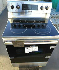 """Samsung 30"""" Electric Range OVEN STOVE 5 Smoothtop Heating Elements Stainless"""