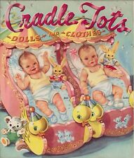 VINTG UNCUT 1940s Cradle Tots PAPER DOLL LASER REPRODUCTION~LO PR~NO,1 FREE S&H