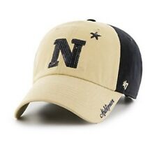 Ncaa Navy Midshipmen Women's Sparkle Two Tone Clean Up Adjustable Hat, One Size