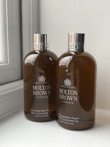 Molton Brown Re-charge Black Pepper Bath & Shower Gel 2 X 300ml NEW Free Deliver