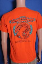 Vintage '80s Fish Camp Jam Staff double sided screen stars orange t shirt M