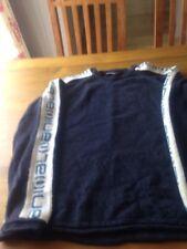 An Animal Ladies Navy Blue Wool Jumper Size L