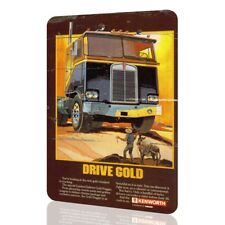 METAL SIGN KENWORTH Drive Gold Classic Poster Unique DRIVERS Truck Collectors