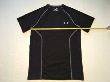 UNDER ARMOUR HEATGEAR Men's Sz Medium Short Sleeve Fitted T-Shirt 1243332 Black