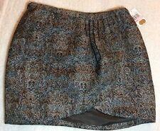 NWT Michael Michael Kors Brown Brocade Wrap Mini Skirt Size 10 HTF