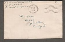 WWII cover Pfc Grace E Palys Squadron D NAD-ATc Dow Field Bangor ME to NY