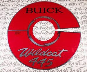 """1965-1966 Buick 401 14"""" Aluminum Air Cleaner Identification Plate   Wildcat 445"""