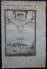 1684 TOLEN view etching Alain Manesson Mallet fortifications Tholen Zeeland