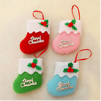 1/6/12x Xmas Santa Snowman Hanging Candy Socks Christmas Tree Decor Stockings FO