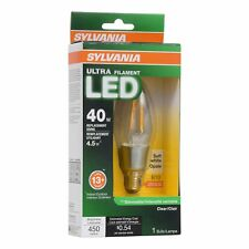 Sylvania Filament Led 40w Candelabra Base Dimmable 2700k Light Bulb 12 Pack