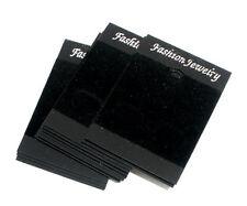 50 Supports Carton pr Boucles d'Oreilles Noir 52x37mm