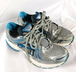 Brooks Men's Sz 9.5 Adrenaline GTS 12  Running Shoes White/Blue (A- Cond) $119