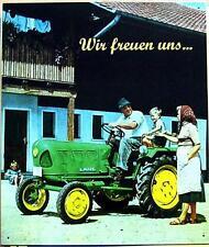 Älteres Blechschild  Traktor Schlepper Lanz Bulldog gebraucht used