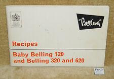 VINTAGE OLD BABY BELLING 120 320 620 RECIPES PB BOOK NOVEMBER 1973 - CAMPER