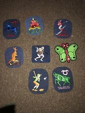 Vtg Lot 8 Patches Funny 70s 80s Travel Unusual Zodiac sew on Boot #25